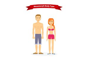 Mesomorph Body Type Woman and Man