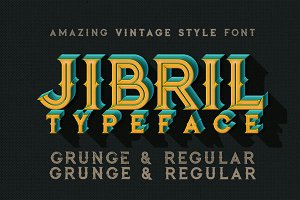 Jibril - Vintage Style Font