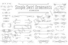 Simple Swirl Ornaments