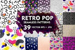 Retro Pop Pattern Set