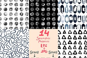 14 Seamless Patterns EPS+JPG