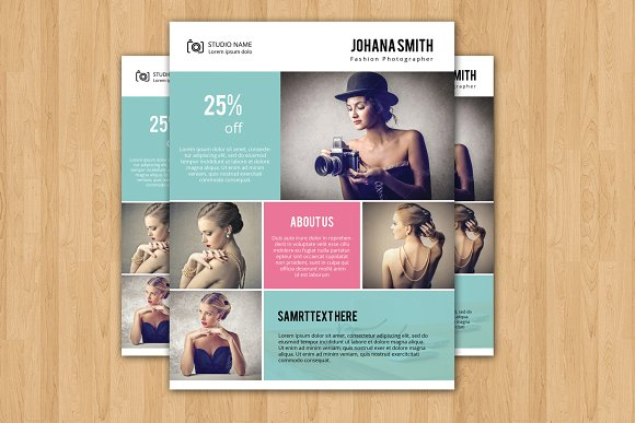 photography flyer template v225 flyer templates creative market