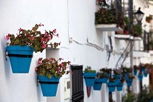 Flowerpots of Mijas, Spain