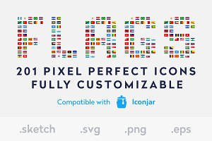 Flags Icons Pro - Sketch File