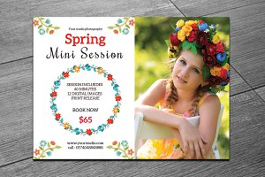 Spring Mini Session Template-V226
