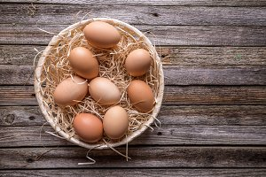 Eggs in basket