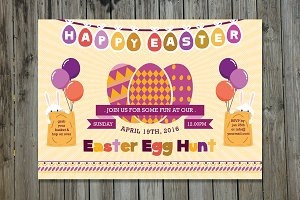 Easter Egg Hunt Party Flyer-V227