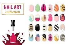 Nail art vector collection