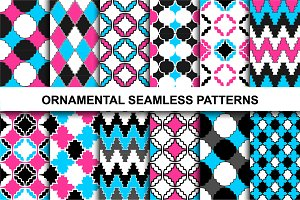 Colorful ornamental patterns.