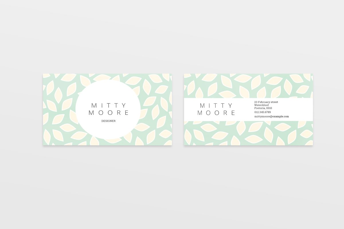 Minimal Business Cards Molly