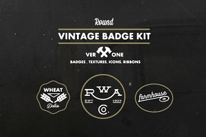 Round Vintage Badge Kit V.1