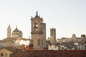 View over Citta Alta, Bergamo, Italy