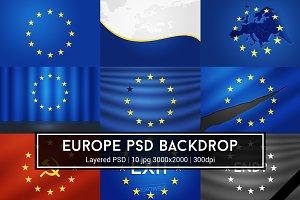 European Union PSD Backdrop