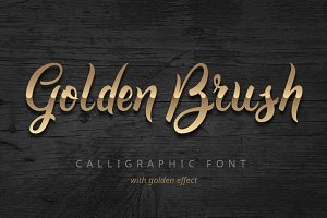 Golden Brush font
