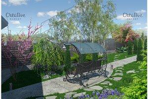 Landscaping garden alley