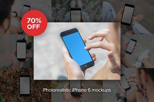 30x Photorealistic iPhone 6 mockups