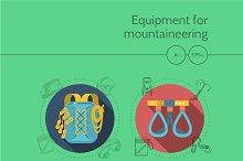 Mountaineering equipment full set