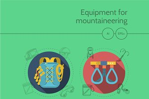 Mountaineering equipment full set