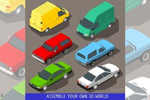 Flat 3D Vehicle Isometric