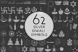 Silver Diwali Symbols