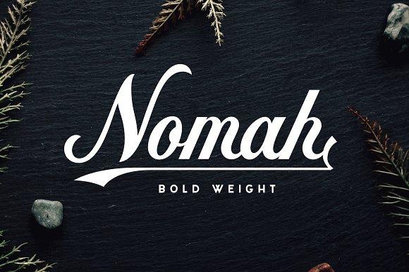 Nomah Bold Bonus Script Fonts Creative Market
