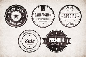Vintage Badges Vector Pack 2