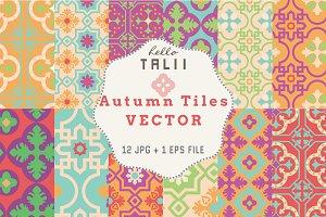 Autumn Tiles (Vector + JPG)
