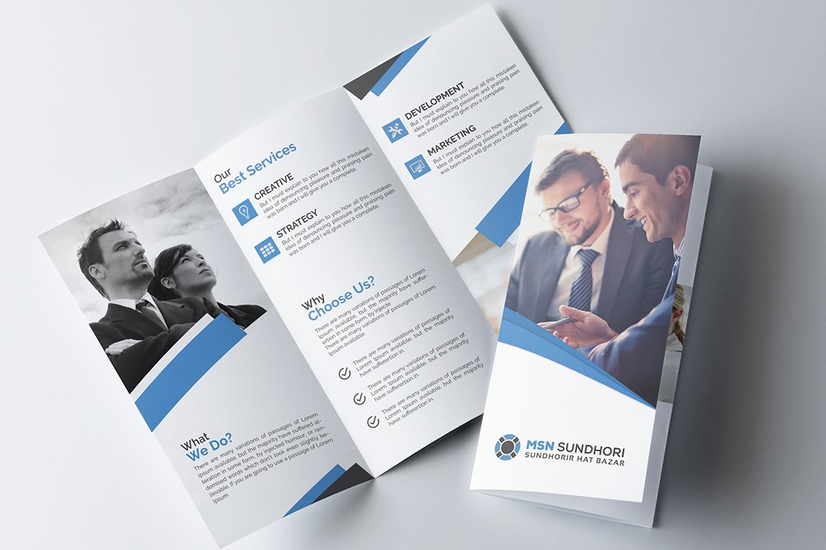 Corporate tri fold brochure brochure templates creative market saigontimesfo