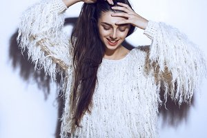 Portrait of beautiful smiling girl.