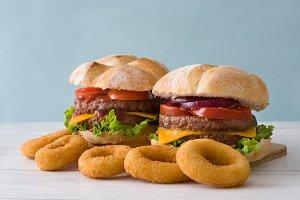 Delicious cheeseburgers