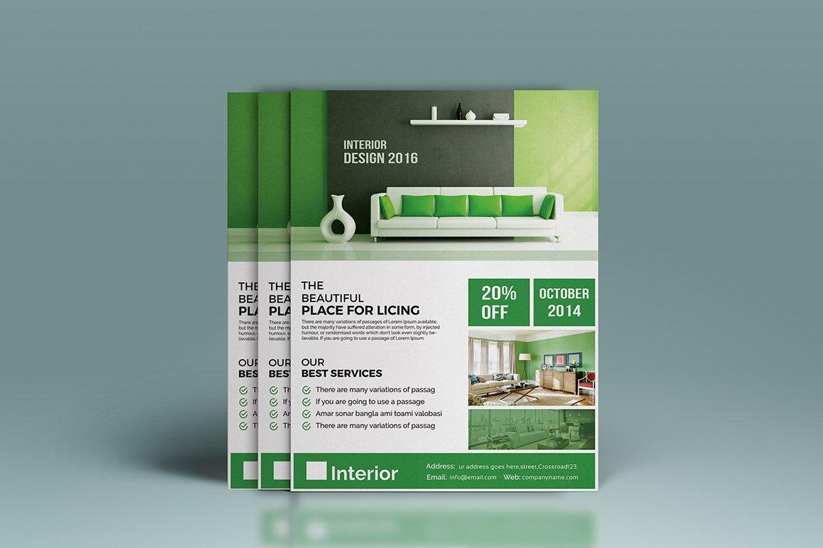interior design flyer flyer templates creative market