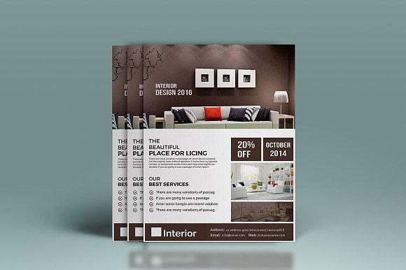 Interior Design Flyer Templates Creative Market