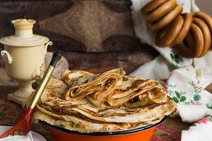 Russian pancake festival. Shrovetide