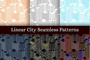 Seamless Patterns. Isometric City.