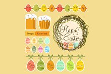 Happy Easter. Set of elements.