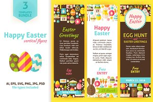 Easter Greeting Vertical Invitations