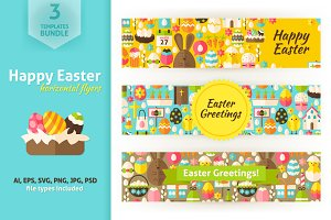 Easter Greeting Horizontal Banners