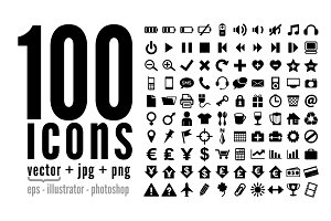100 icons - pack