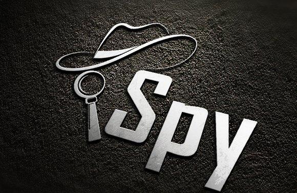 spy logo creative illustrator templates creative market spy logo