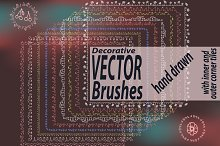 9 decorative vector brushes