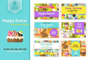 Happy Easter Horizontal Invitations