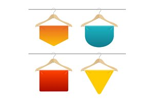 Hanger Sale Banner Set. Vector