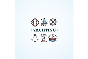Nautical Sea Yachting Concept.
