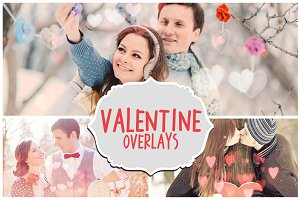 Valentine's Day Photoshop Overlays