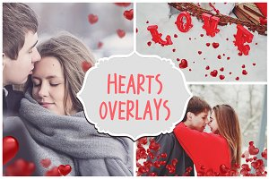 Heart Valentine's Photoshop Overlays