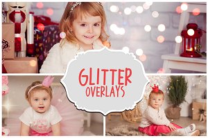 Blowing Glitter Photoshop Overlay