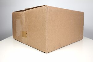 Brown packet parcel