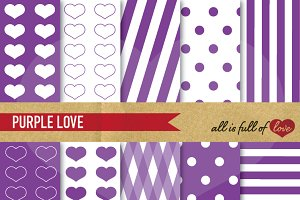 Purple Illustrations Background Kit