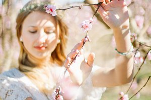spring blossom  woman portrait