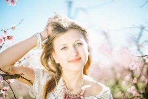 nice sunny spring portrait